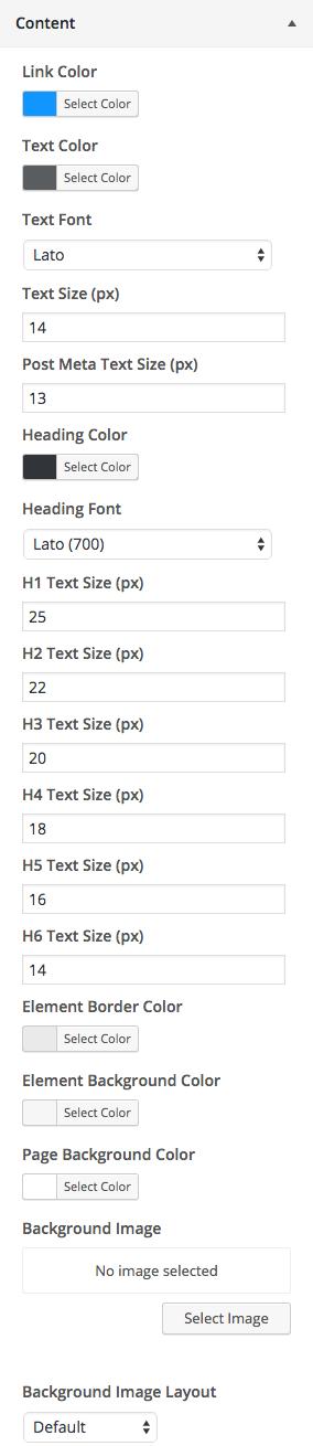 Content Customizations