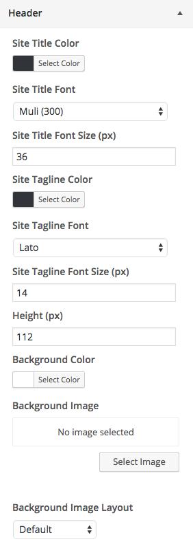 Ultra Header Customizations